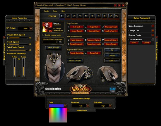 мышь SteelSeries World of Warcraft Cataclysm